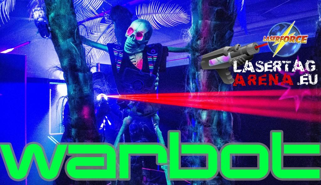Laserforce Lasertag Deutschland Warbot. Warbt Laser Tag Arena Oftersheim.
